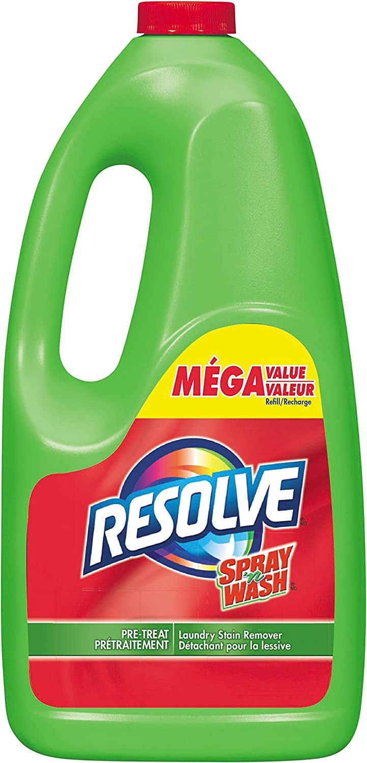 Resolve, Spray 'N Wash, Laundry Stain Remover, Mega Value Pre-Treat Trigger Refill, 1.5 L