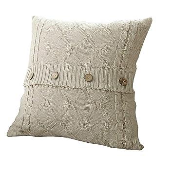 Amazon.com: UArtlines - Funda de cojín de punto de algodón ...