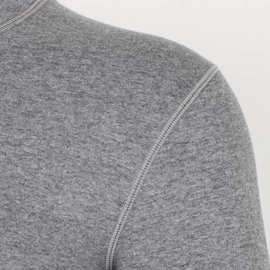 Traspirante E Aderente Baoblaze Top Termici Intimi Uomo Maglietta Cotone Elastiche Maglie Termiche Sci Maniche Lunghe E Design A Scollo Rotondo