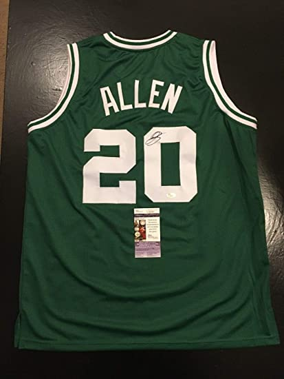 dd9b9a4cf Ray Allen Celtics Hof Autographed Signed Autograph Sz L Basketball Jersey  JSA Authentic Certified at Amazon s Sports Collectibles Store