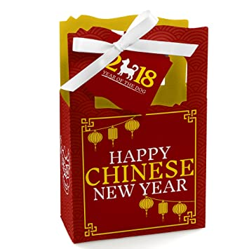 chinese new year 2018 year of the dog party gift bag 12 count - Gifts For Chinese New Year