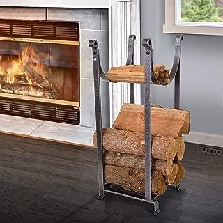 product image for Enclume Handcrafted Sling Fireplace Log Rack Hammered Steel