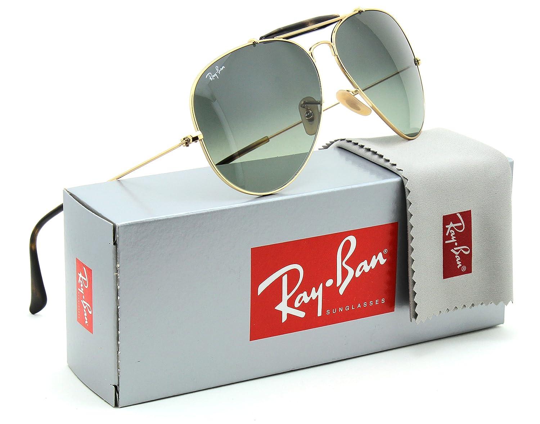 83ad1288b4 Ray-Ban RB3029 Outdoorsman Havana Collection Unisex Sunglasses 181 71 - 62mm   Amazon.co.uk  Clothing