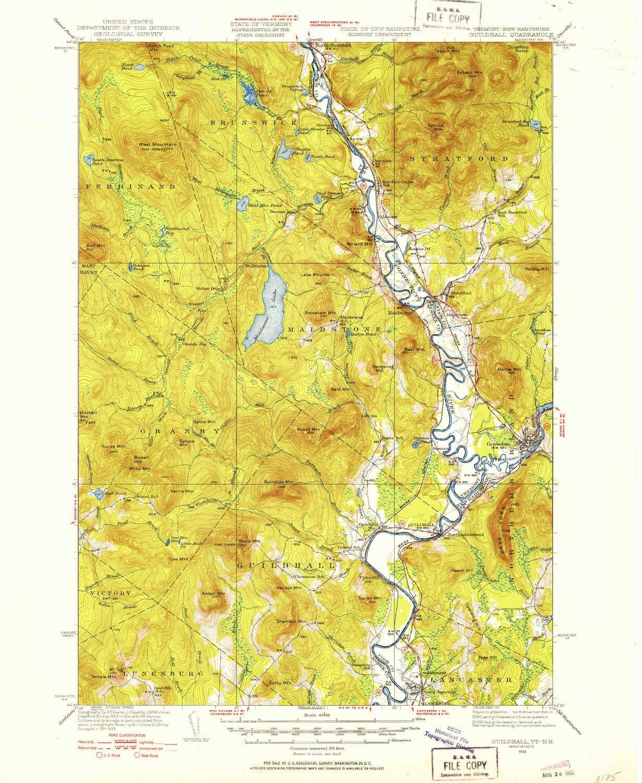 Amazon.com: YellowMaps Guildhall VT topo map, 1:62500 Scale ...