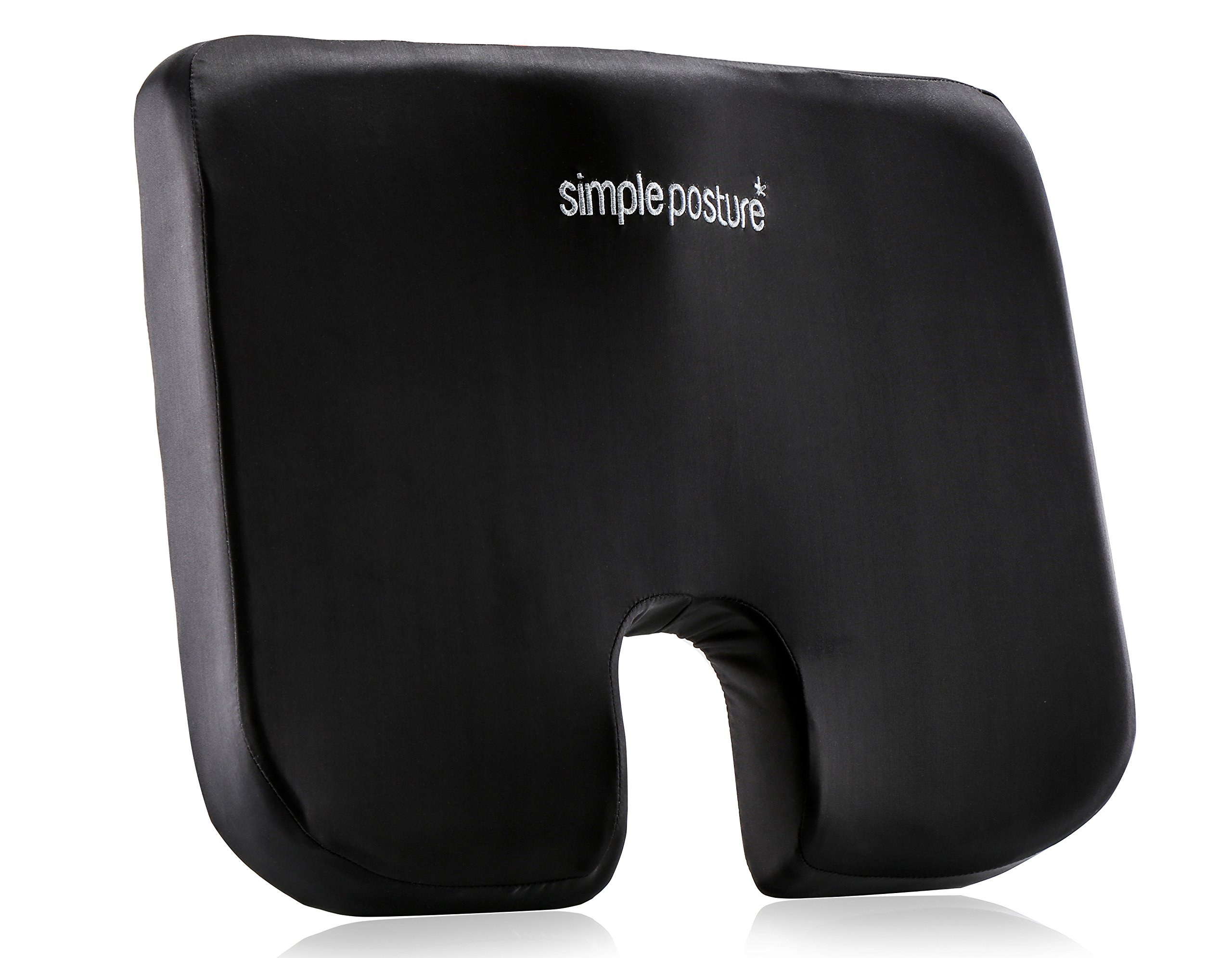 SimplePosture uSeat™ - Tailbone Cushion - Memory Foam Coccyx Cushion Custom Designed For Immediate Tailbone & Lower Back Pain Relief - Now With Improved Ergonomics & Upgraded Memory Foam by Bert