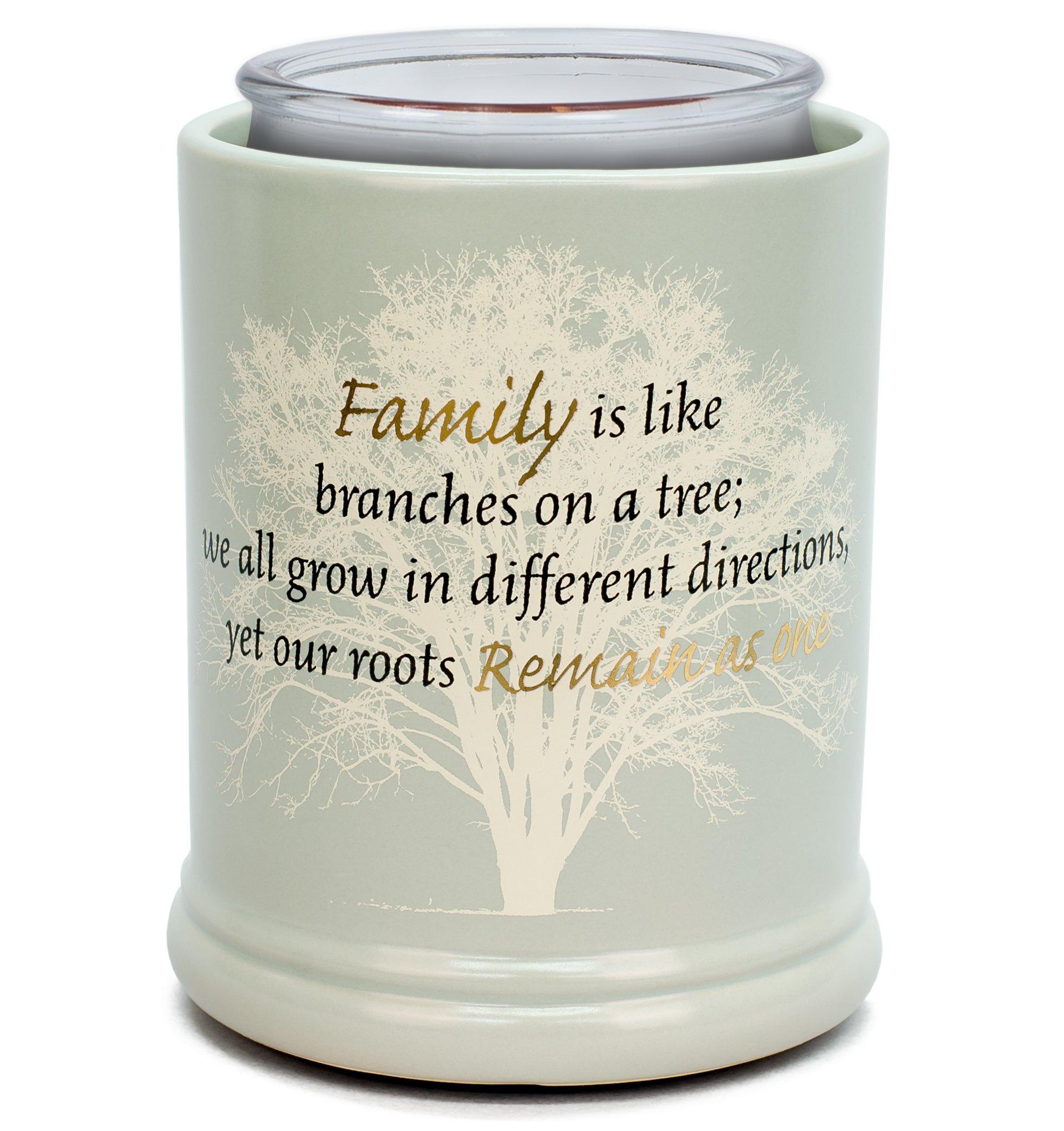 Elanze Designs Family Tree Ceramic Stoneware Electric Large Jar Candle Warmer by Elanze Designs (Image #3)