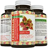 100% Pure Forskolin Extract 60 Capsules - High Quality Weight Loss Supplement for Women & Men - Most Potent Coleus Forskohlii on the Market – Standardized At 20% - Guaranteed By California Products