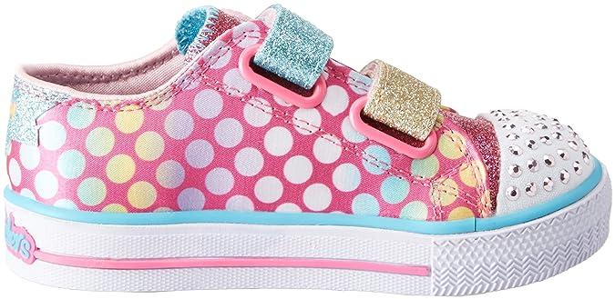 Skechers Shuffles Poppin Posse, Zapatillas para Niñas, (Hot PinkMulticolour), 24 EU