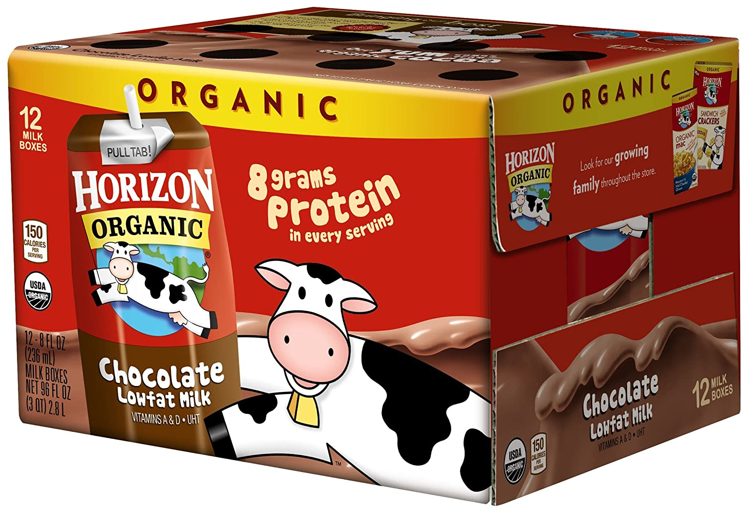 B0019KCUMG Horizon Organic UHT Chocolate Milk Boxes, 1% Single Serve, 8 Oz., 12 Count 811TkUdvjfL