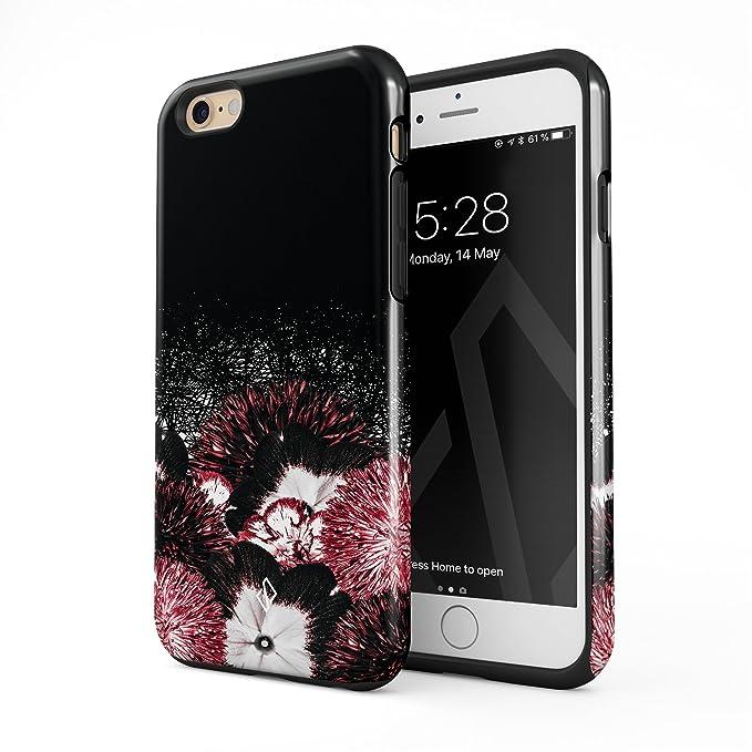 amazon com burga compatible with iphone 6 plus iphone 6s plus caseburga compatible with iphone 6 plus iphone 6s plus case floral bouquet pink black doodle floral