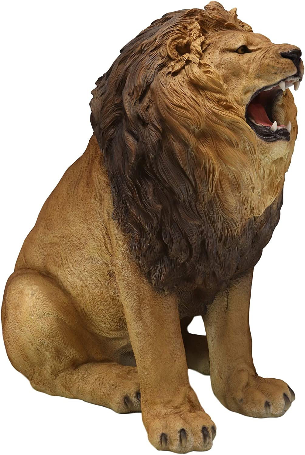 Ebros Giant King Of The Jungle African Pride Fierce Roaring Lion Realistic Statue 41 Tall The Majestic Aslan Lifelike Detailed Gallery Quality Home Garden Patio Resin Sculpture Home Kitchen