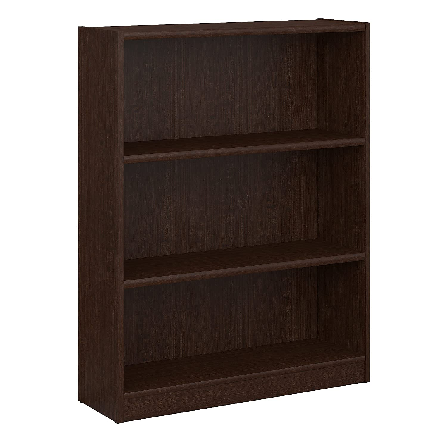 Bush Furniture Universal 3 Shelf Bookcase in Mocha Cherry WL12483-03
