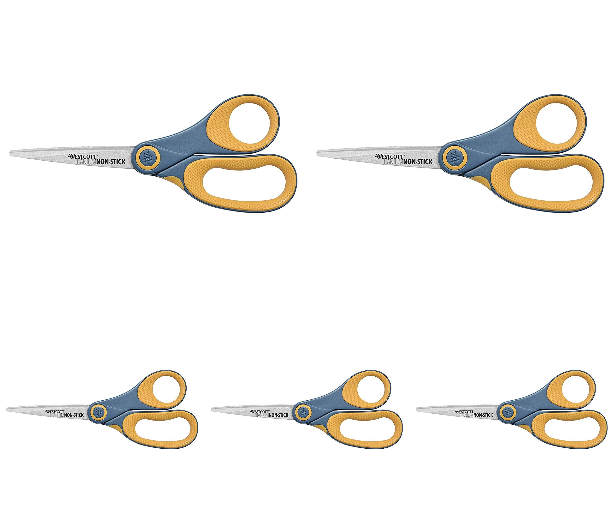 Westcott 14849 8'' Straight Titanium Bonded Non-Stick Scissors by Westcott