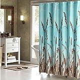 DS DESIGN Montana Green Shower Curtain,Aqua Polyester Fabric Shower Curtain,Plants Shower Curtains for Bathroom,Floral…