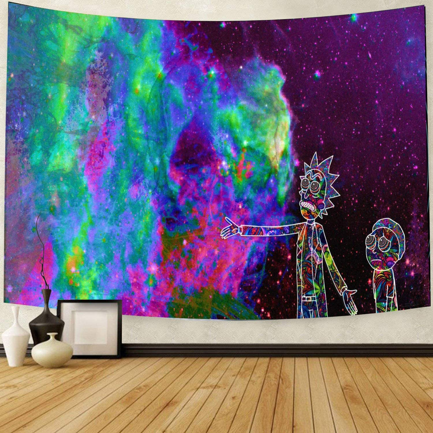 Bit Better 59 X 78.7 Inch Trippy Home Decor Cool Colorful Tapestry (Hippie Rick)