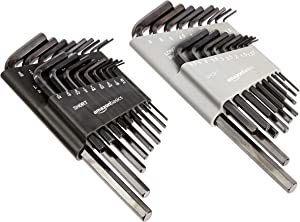 AmazonBasics 36-Piece Allen Wrench/Hex Key Set - SAE/Metric