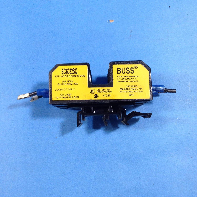 Details about  /2 Bussmann BC6032PQ Fuse Block Holders 30A 600V 2 Pole Class CC CC60030-2PQ
