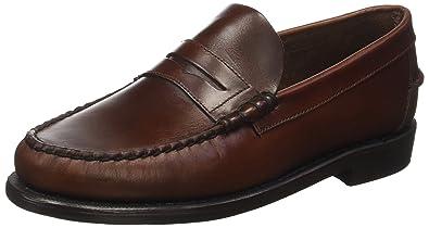 Sebago Classic - Mocasines de cuero hombre, Marrón (Brown Oiled Waxy), 44 EU: Amazon.es: Zapatos y complementos