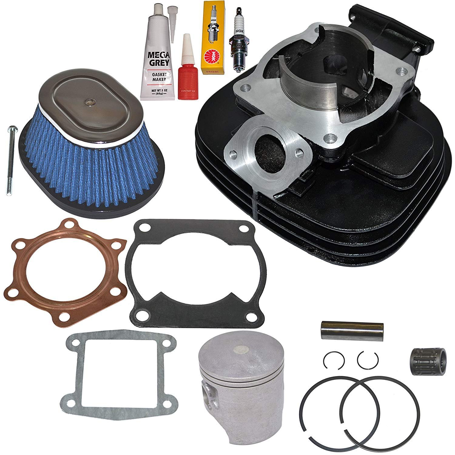 NEW! YAMAHA BLASTER 200 YFS200 CYLINDER PISTON GASKET AIR FILTER TOP END KIT SET by TOP NOTCH PARTS