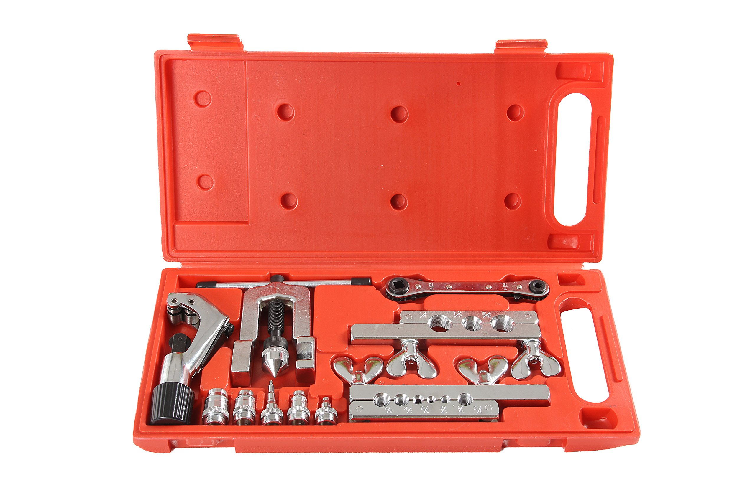 Shankly Flaring Tool Set (10 Piece - Professional Grade), Heavy Duty Steel Flaring Tools Kit and Swage Tool, Flaring Tool with Tubing Cutter Included. (This is not a Double Flaring Tool).