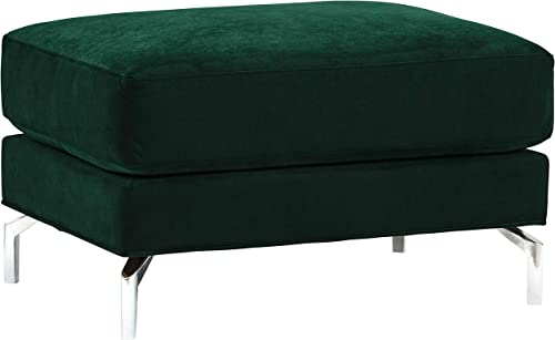 Amazon Brand Rivet Emerly Modern Ottoman, 33 W, Emerald