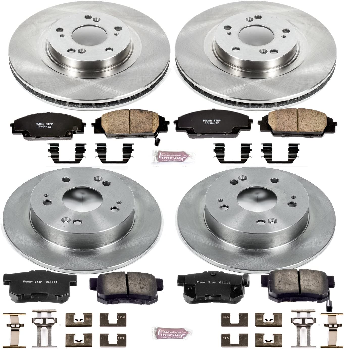 Autospecialty KOE1140 1-Click OE Replacement Brake Kit