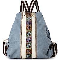Women Canvas Backpacks Daypack Casual Shoulder Bag, Shool Bag Laptop Backpack
