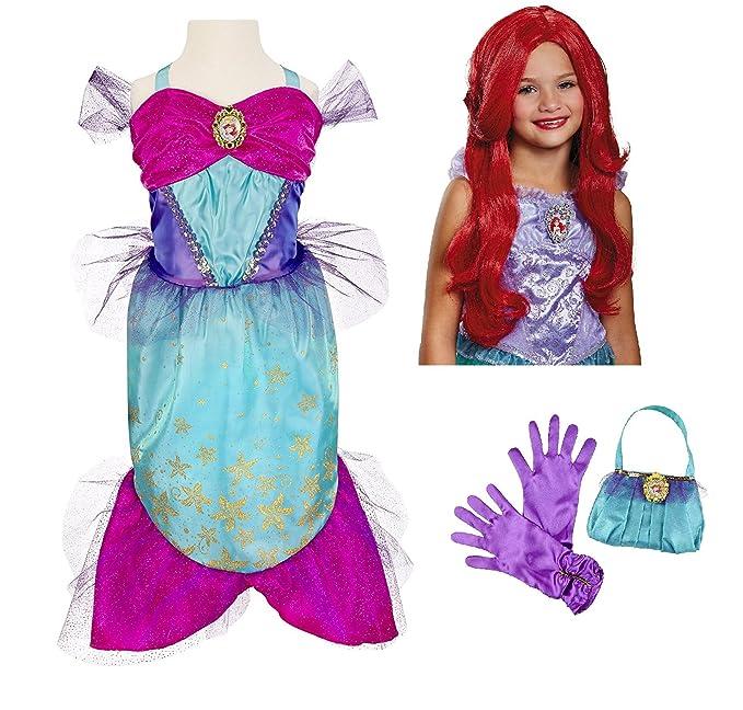 e5a914c9222 Amazon.com  Disney Princess Ariel Little Mermaid Costume - Dress ...