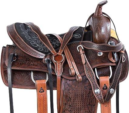 PREMIUM BROWN 14 15 16 17 BARREL TRAIL HORSE WESTERN PLEASURE SADDLE TACK PAD