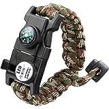Anoak Paracord Bracelet 20 in 1 Outdoors Emergency Survival Bracelet, Wilderness Survival-Tool for Camping