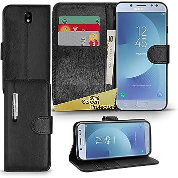 save off 3c7e2 3d5a1 Samsung Galaxy J5 2017 - Premium Wallet Leather Case Book Cover Flip Stand  + Cloth + Stylus [Inside Gel Case] (Samsung Galaxy J5 2017, Black)