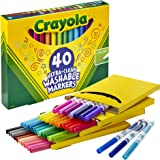 Crayola Ultra Clean Washable Markers, Fine Line Marker Set, Gift for Kids, 40 Count