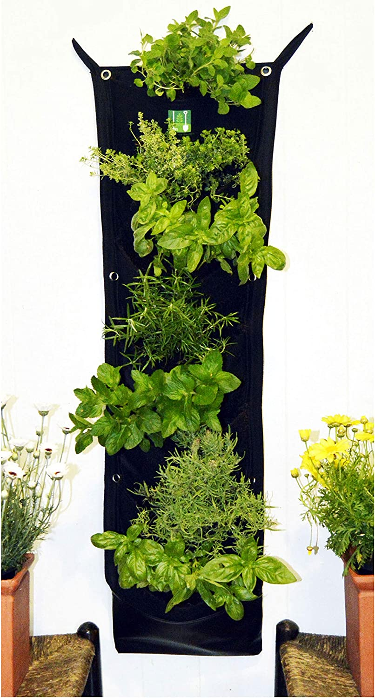 Delectable Garden 7 Pocket Waterproof Indoor Hanging Vertical Garden Wall Planter for Home Decoration