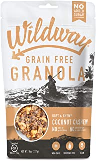 product image for Wildway Keto, Vegan Granola | Coconut Cashew | Certified Gluten Free Granola Breakfast Cereal, Low Carb Snack | Paleo, Grain Free, Non GMO, No Added Sugar | 8oz, 6 pack