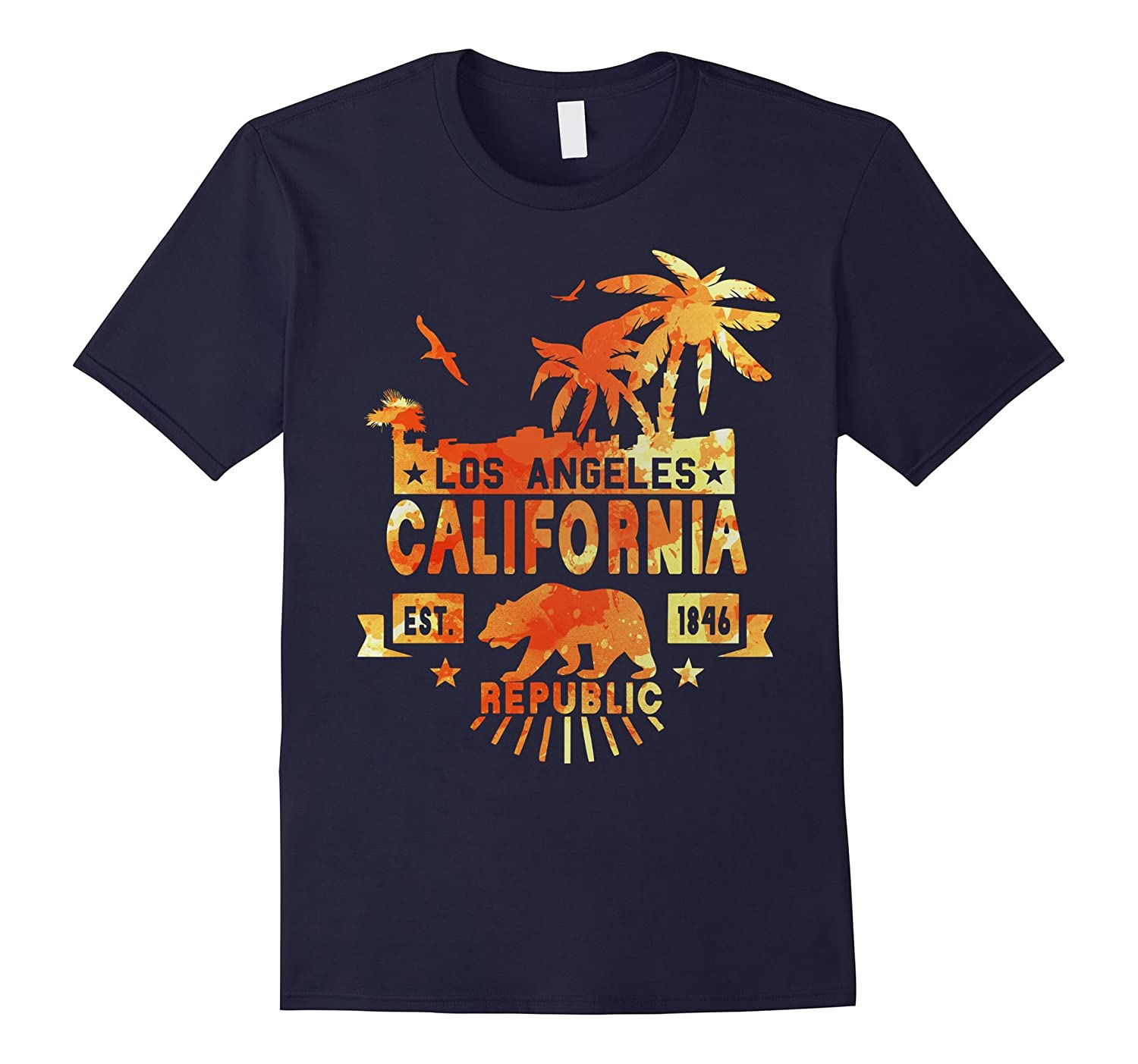 LA California Retro T Shirt LOS ANGELES CALI-RT