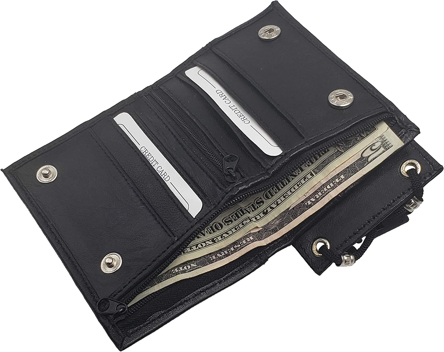 Nylon Tri-Fold Wallet Id /& Badge Holder Room For Cash /& Cc Removable Flap
