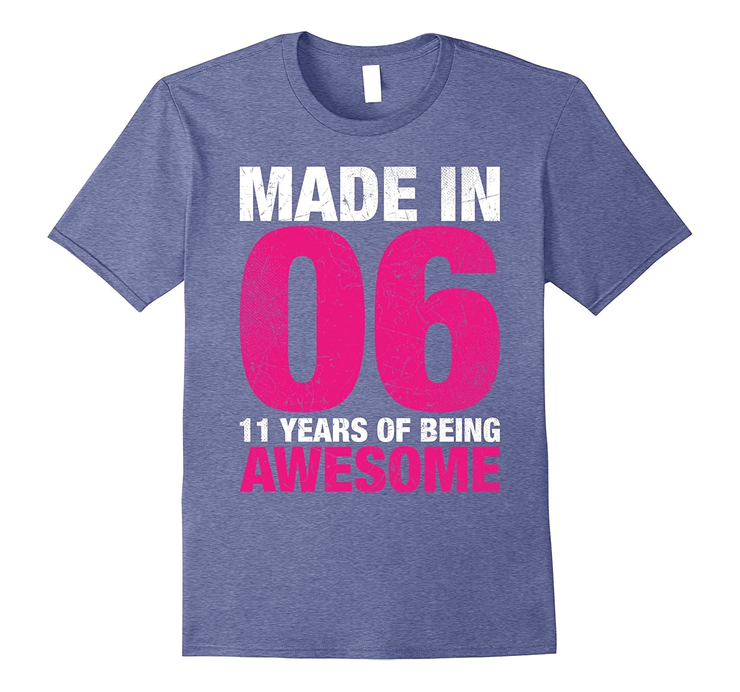 11th Birthday Gift T-Shirt Made In 2006 11 years old-TH