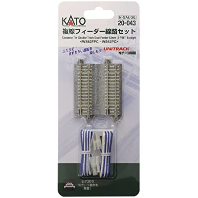 "Kato KAT20043 N 2-7/16"" Double Track Feeder Concrete Ties (2): Toys & Games"