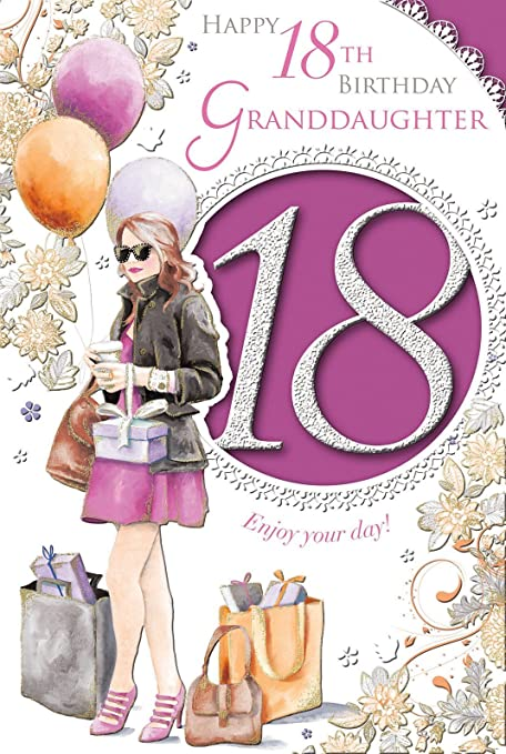 Amazon Xpress Yourself Granddaughter 18 Today Medium Sized