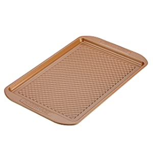 Farberware Colorvive Nonstick Cookie Pan, 11-Inch x 17-Inch, Copper
