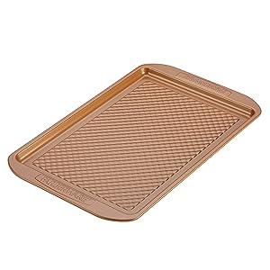 Farberware Colorvive Nonstick Cookie Pan, 11-Inch x 17-Inch, Copper