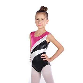 63e9ecc8633c Sinoem Gymnastics Leotards Dance Leotards Rainbow Stripes and Sparkle  Ballet Dress One-piece Sleeveless for