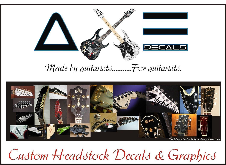 Custom guitar headstock decal sticker graphic amazon co uk musical instruments