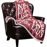 Chanasya I Love You Gift Throw Blanket - for Love Support Thinking of You Warm Message Birthday Anniversary Pink Gift Blanket