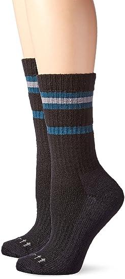 3e3aedddee Carhartt Women's 2 Pack Heavy Duty Thermal Crew Socks, Black, Shoe Size 5.5  to