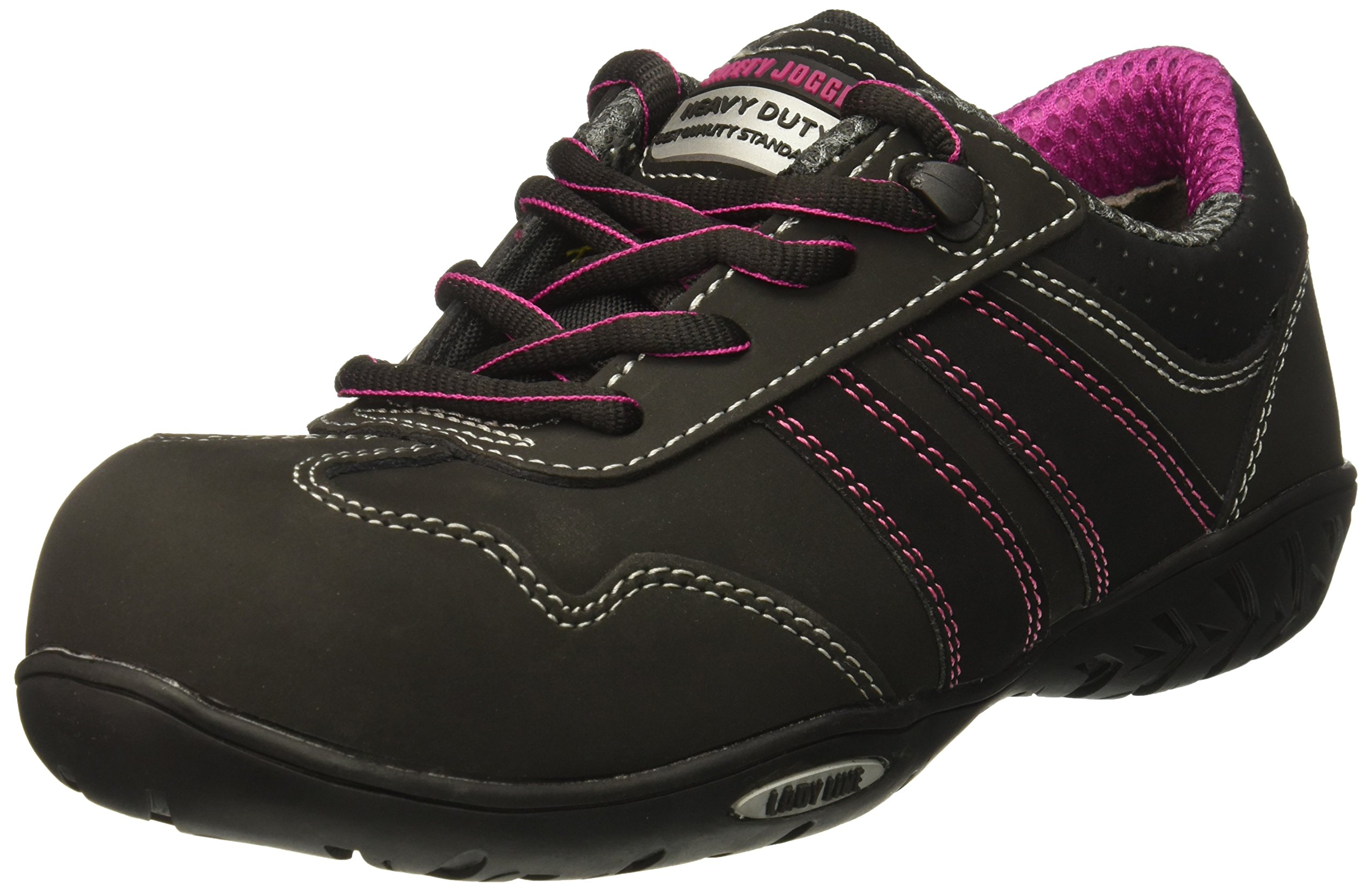 SAFETY JOGGER CERES Women's Safety Toe Lightweight EH PR Water Resistant Shoe, W 6, Black
