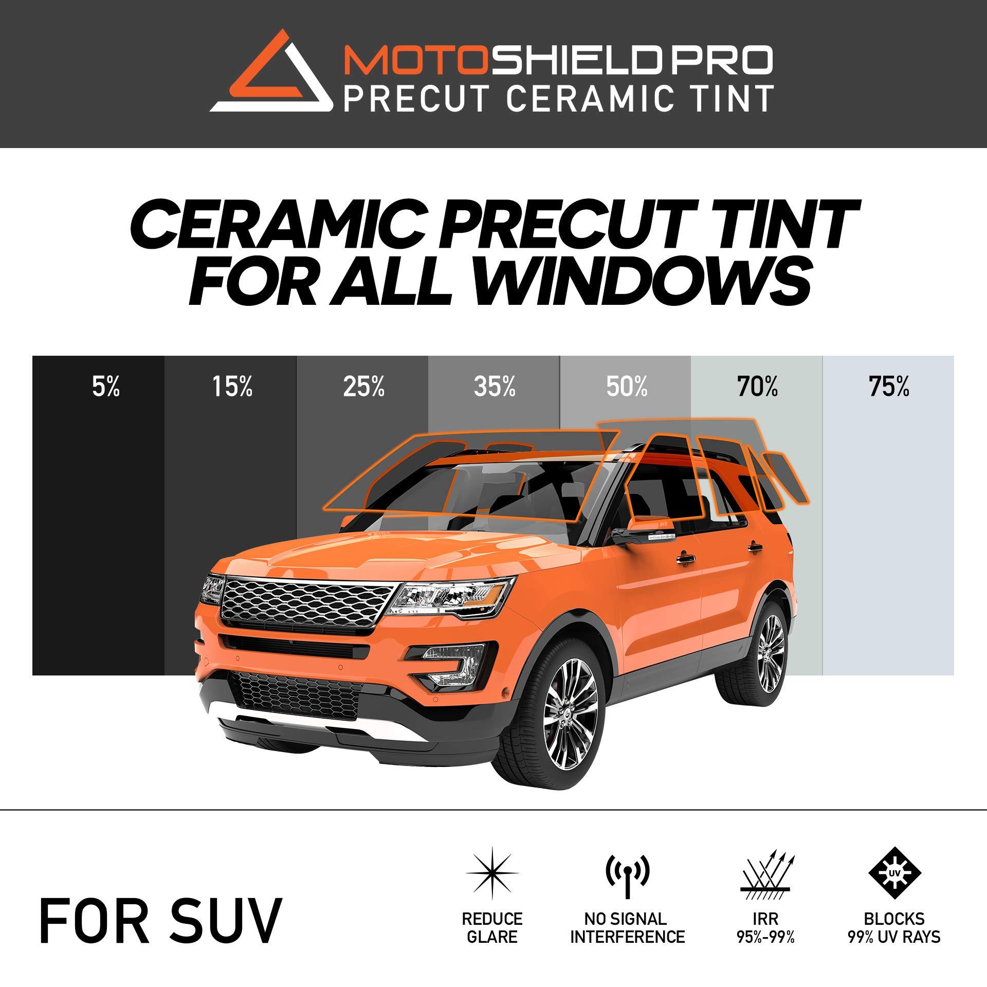 MotoShield Pro Precut Ceramic Tint Film [Blocks Up to 99% of UV/IRR Rays] Window Tint for SUVs - All Windows, Any Tint Shade by MotoShield Pro