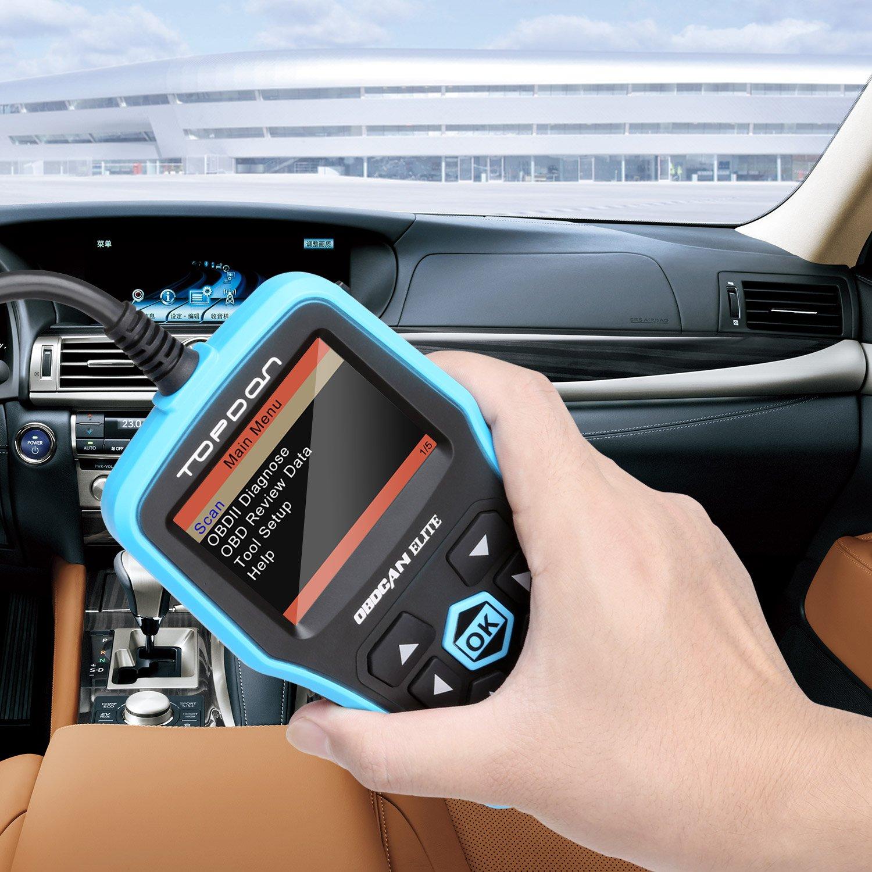 OBD2 Scanner, TT TOPDON ABS/SRS Scanner Universal CAN OBD2 Scanner OBDII Car Computer Diagnostic Tool Car Code Reader for DIY and Professional (Topdon Elite) by TT TOPDON (Image #3)