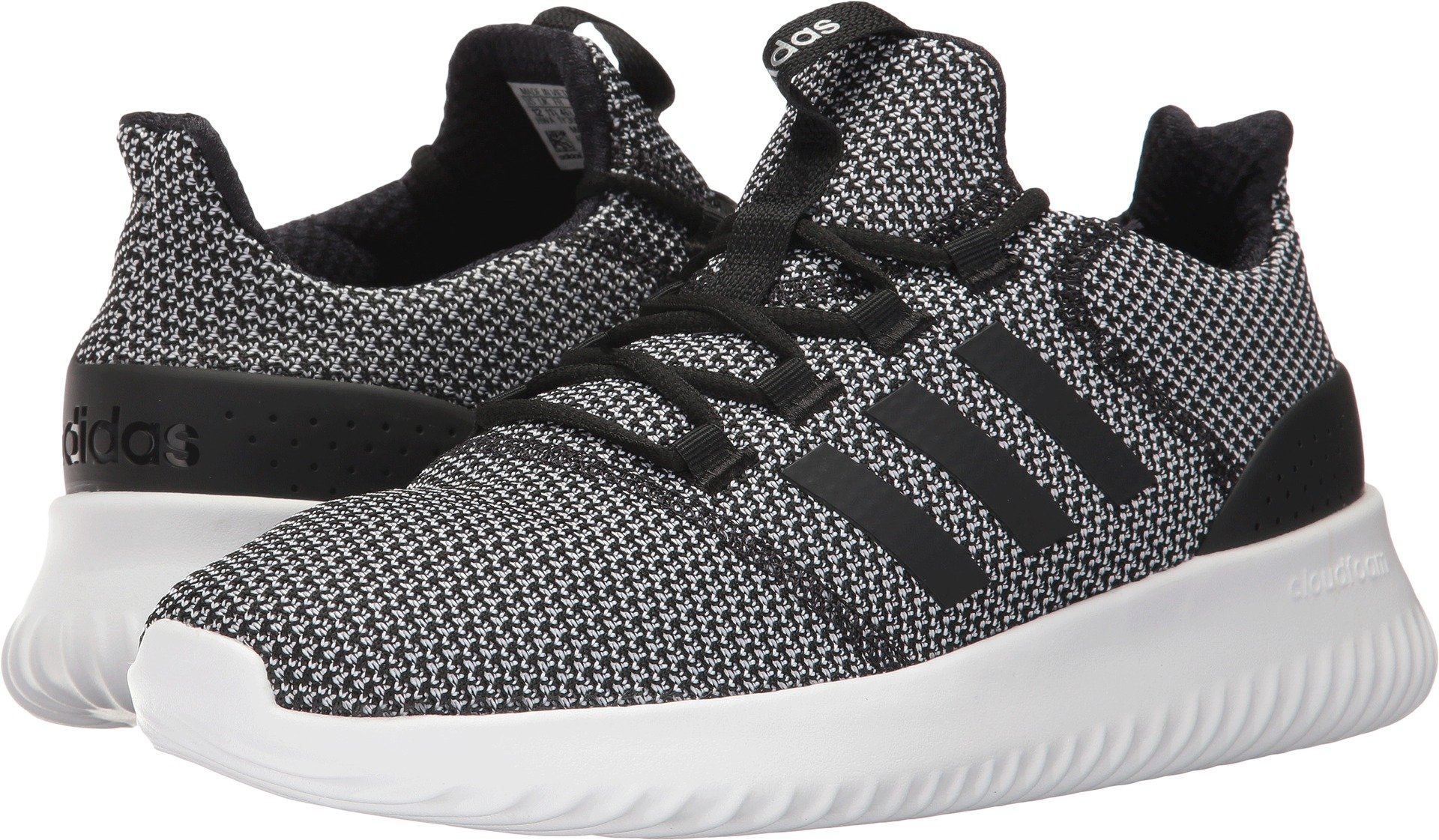 adidas Men's Cloudfoam Ultimate Running Shoe, Black/Black/White, 11 Medium US