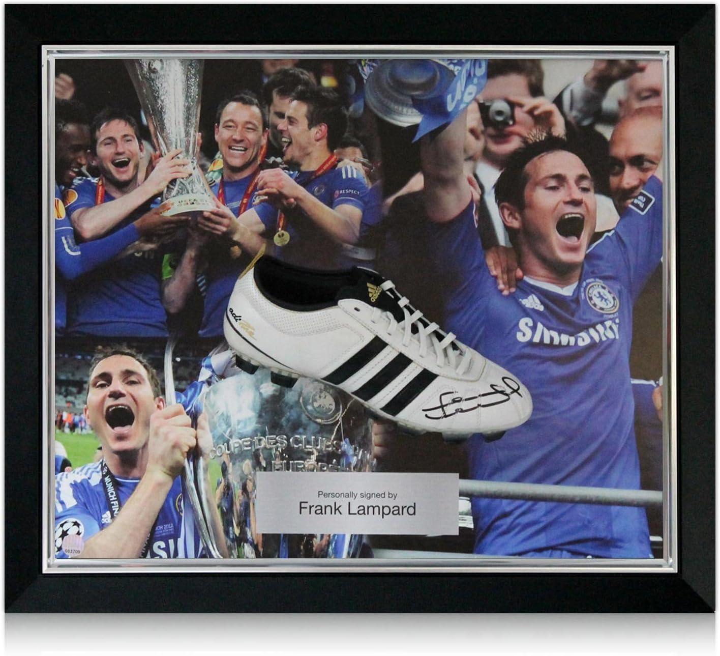 Frank Lampard Enmarcado Firmado Botas de fútbol: Amazon.es ...